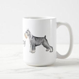 I Love my Standard Schnauzer Classic White Coffee Mug