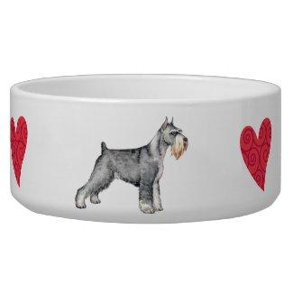 I Love my Standard Schnauzer Pet Bowls