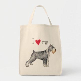 I Love my Standard Schnauzer Tote Bag