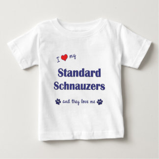 I Love My Standard Schnauzers (Multiple Dogs) Baby T-Shirt