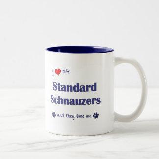 I Love My Standard Schnauzers (Multiple Dogs) Coffee Mugs