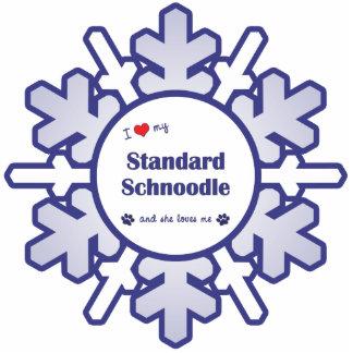 I Love My Standard Schnoodle (Female Dog) Cutout