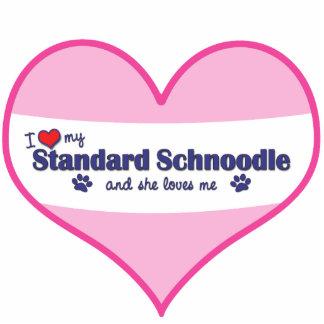 I Love My Standard Schnoodle (Female Dog) Statuette
