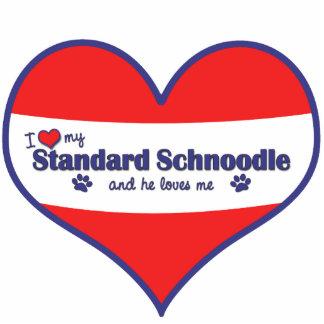 I Love My Standard Schnoodle (Male Dog) Statuette