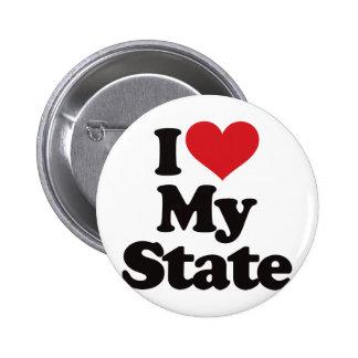 I Love My State Pin