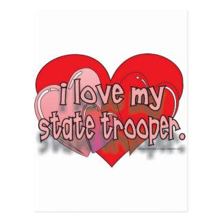 I LOVE MY STATE TROOPER POSTCARD