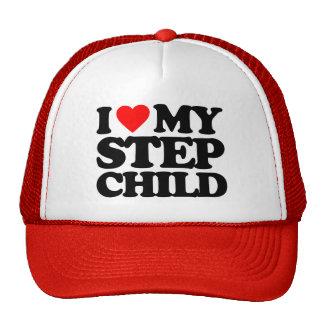 I LOVE MY STEP CHILD TRUCKER HAT