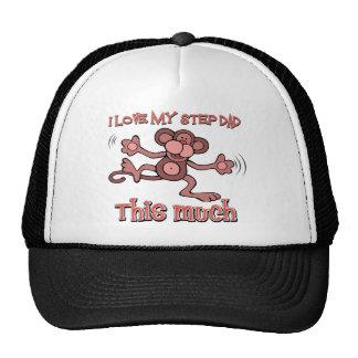 I love my step daddy this much trucker hat