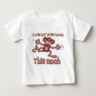 I love my step mom this much baby T-Shirt
