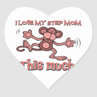 I love my step mom this much heart sticker