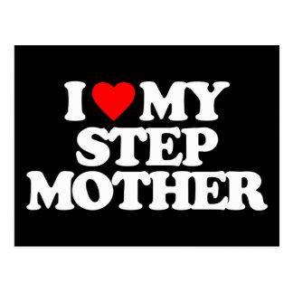 I LOVE MY STEP MOTHER POSTCARD