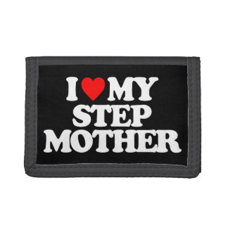 I LOVE MY STEP MOTHER TRI-FOLD WALLETS