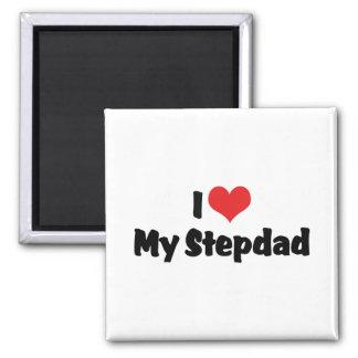 I Love My Stepdad 2 Inch Square Magnet
