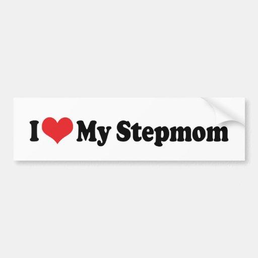I Love My Stepmom Bumper Sticker