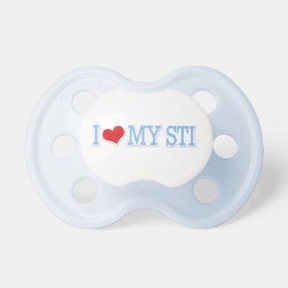 I Love My STI Baby Blue Baby Pacifiers