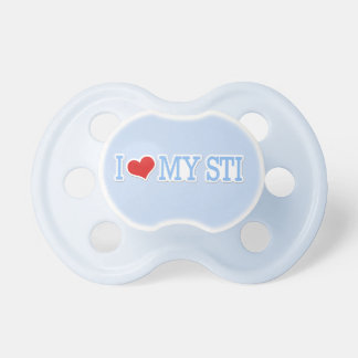 I Love My STI Blue Pacifiers