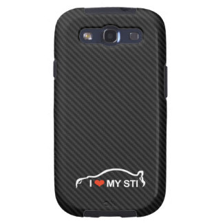 I Love my STI (on faux carbon fiber) Samsung Galaxy S3 Covers