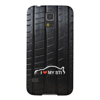 I Love MY STI on tire tread Galaxy S5 Case