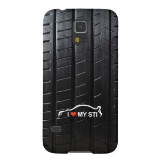 I Love MY STI on tire tread Galaxy S5 Cover