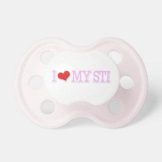 I Love My STI Pink Baby Pacifier