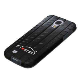 I Love my STI with tire treads Galaxy S4 Case