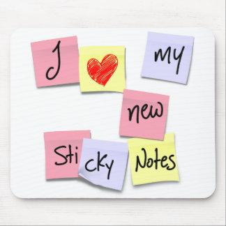 I LOVE MY STICKY NOTES MOUSE PAD
