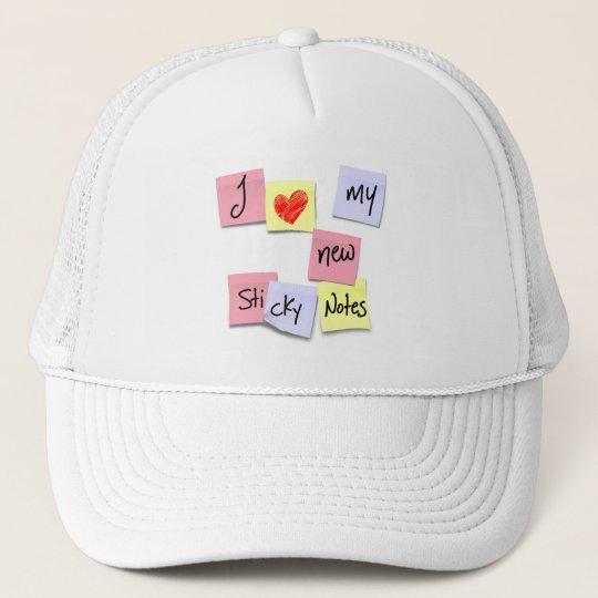 I LOVE MY STICKY NOTES TRUCKER HAT