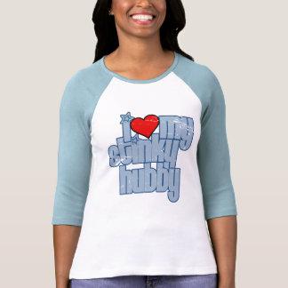 i love my stinky hubby (distressed) t-shirt