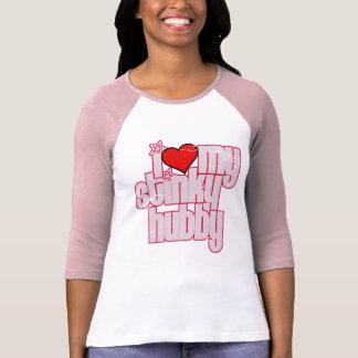 i love my stinky husband (distressed) tshirt