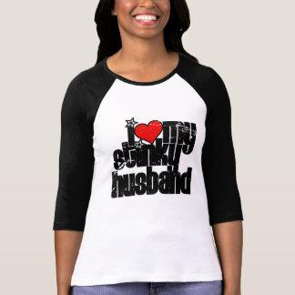 i love my stinky husband (distressed) t-shirts