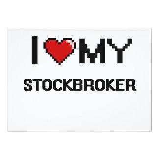 I love my Stockbroker 5x7 Paper Invitation Card