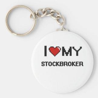I love my Stockbroker Basic Round Button Keychain
