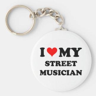 I Love My Street Musician Key Chains