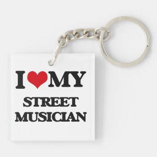 I love my Street Musician Keychain
