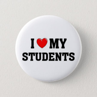 I love my students button