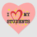 I LOVE MY STUDENTS HEART STICKERS