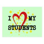 I LOVE MY STUDENTS POSTCARD