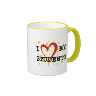 I LOVE MY STUDENTS RINGER COFFEE MUG