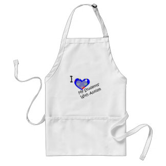 I love my students' with autism adult apron