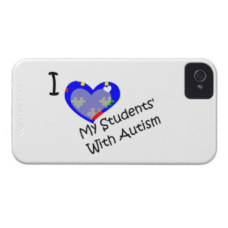 I Love My Student's with Autism blackberry bold iPhone 4 Cases