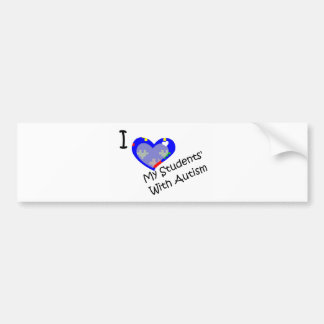 I love my students' with autism car bumper sticker
