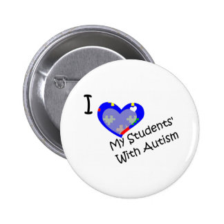 I love my students' with autism button