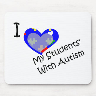 I love my students' with autism mouse pad