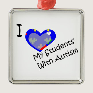 I love my students' with Autism teacher ornament