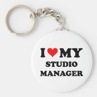 I Love My Studio Manager Keychain