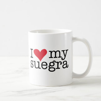 I Love My Suegra (Mother In Law) Coffee Cup Classic White Coffee Mug