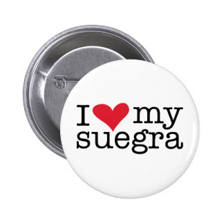 I Love My Suegra (Mother In Law) Pinback Button