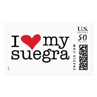 I Love My Suegra (Mother In Law) Postage Stamps