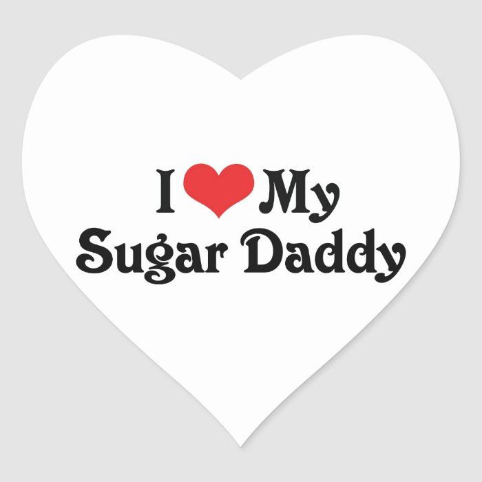 I Love My Sugar Daddy Heart Sticker