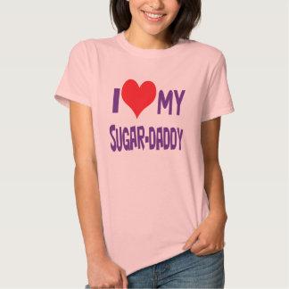 I love my sugar-daddy. tee shirts